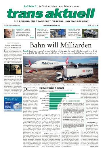 trans aktuell, Ausgabe 24/2014