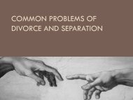Common Problems of Divorce and Separation