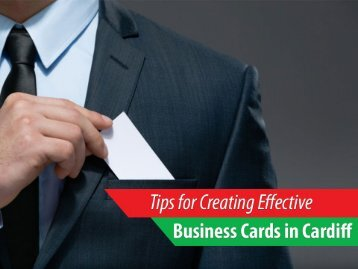 How to Create Effective Business Cards in Cardiff