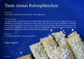 Tante Annas Rahmplätzchen - Rezept
