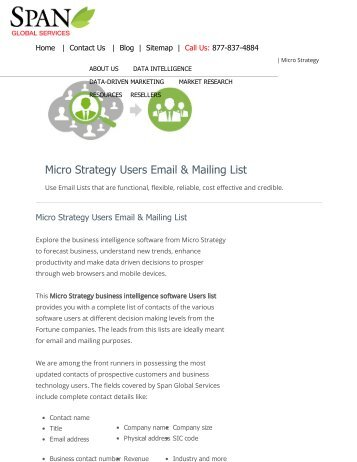 Get the affordable and reliable Micro Strategy users list to reach business users through multi-channel campaigns