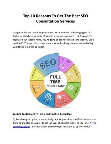 Top 10 Reasons To Get The Best SEO Consultation Services