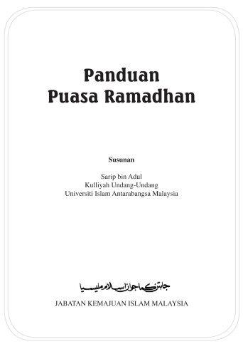 Panduan Puasa Ramadhan