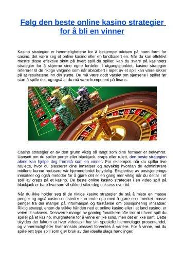 gratis online kasinospill for interesse