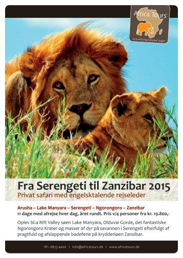 Fra Serengeti til Zanzibar 2015
