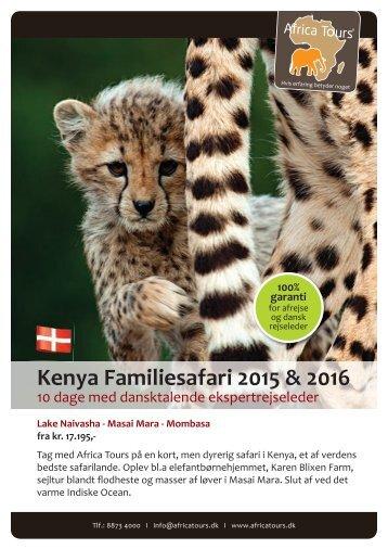 Kenya Familiesafari 2015