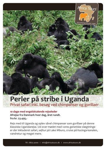 Perler på stribe i Uganda