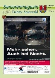 Seniorenmagazin Dahme-Spreewald 6. Ausgabe 2014