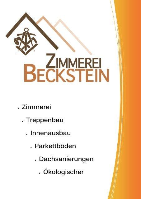 Prospekt Zimmerei Beckstein