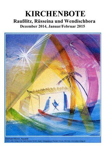 Kirchenbote 2014/15 Dez-Feb
