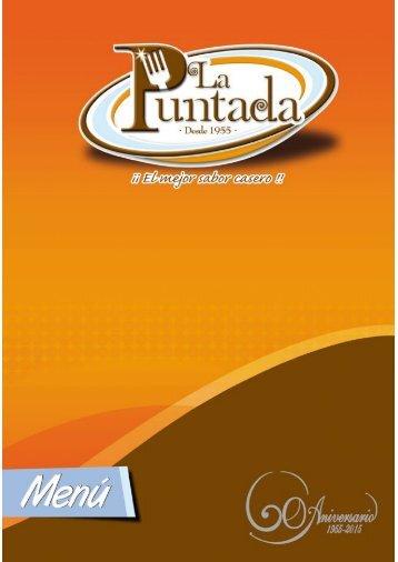 Menú La Puntada 2015