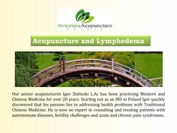 Acupuncture and Lymphedema