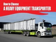 How to Choose a Heavy Equipment Transporter