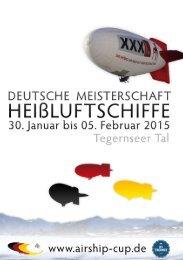 Airship-Cup 2015 - 1. deutsche Luftschiff-Meisterschaft im Tegernseer Tal