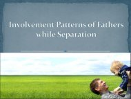 Involvement Patterns of Fathers while Separation