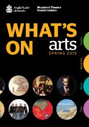 Anglia Ruskin What's On Arts Spring 2015
