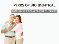 Benefits of Bio Identical Hormone Replacement Therapy
