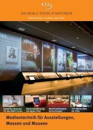 Medientechnik für Ausstellungen, Messen und Museen
