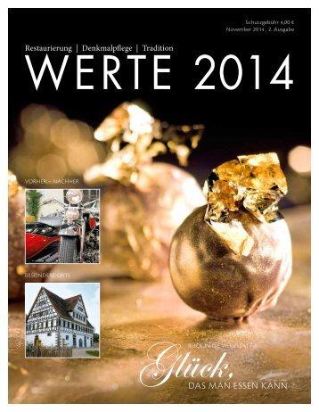 Magazin WERTE 2014 - 2. Ausgabe