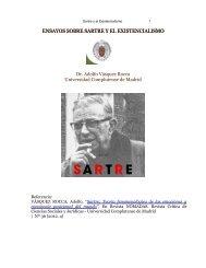 ENSAYOS SOBRE SARTRE Y EL EXISTENCIALISMO Dr. Adolfo Vásquez Rocca