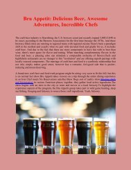 Bru Appetit: Delicious Beer, Awesome Adventures, Incredible Chefs