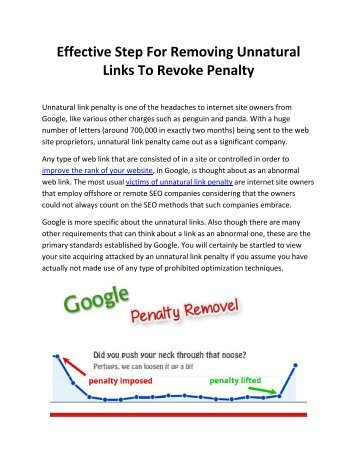 Effective Step For Removing Unnatural Links To Revoke Penalty