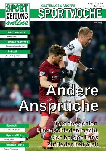 Andere Ansprüche (Sportwoche 50)
