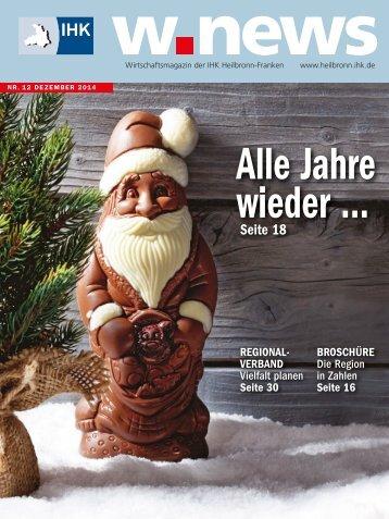 Saisongeschäft | w.news 12.2014