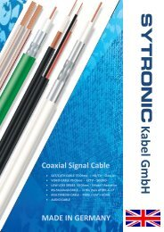 Coaxial signal cable