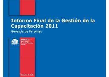 Informe Final de la Gestión de la Capacitación 2011