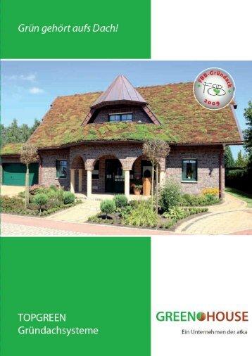 Gründachsystem von 0°-45° Dachneigung Gründachpfannen