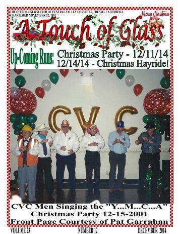 Central Valley Corvettes - December 2014 Magazine