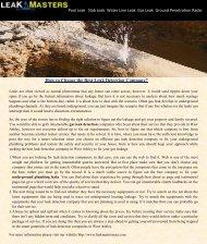 Underground Plumbing Leak Detection