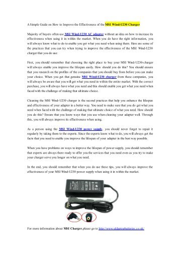 A Simple Guide on How to Improve the Effectiveness of the MSI Wind-U230 Charger.pdf