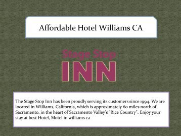 Affordable Hotel Williams CA