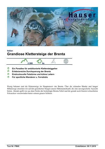 Grandiose Klettersteige der Brenta - Hauser exkursionen