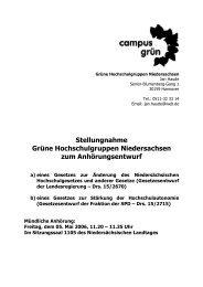 Stellungnahme Grüne Hochschulgruppen Niedersachsen zum ...
