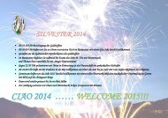 SILVESTER - CIAO 2014 - WELCOME 2015 - CHIEMGAU - CHIEMSEE