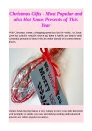 Christmas Gifts - Most Popular and also Hot Xmas Presents of This Year