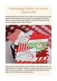 Purchasing Online For Secret Santa Gifts
