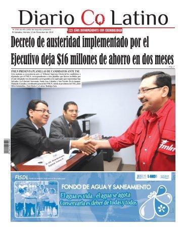 Edición 12 de Diciembre de 2014