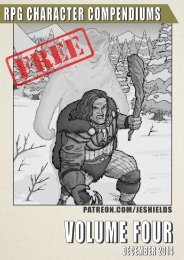 RPG Character Compendiums, Volume 4 - Free Edition #6-10