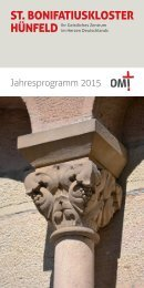 St. Bonifatiuskloster Hünfeld - Jahresprogramm 2015