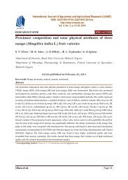 Proximate composition and some physical attributes of three mango (Mangifera indica L.) fruit varieties