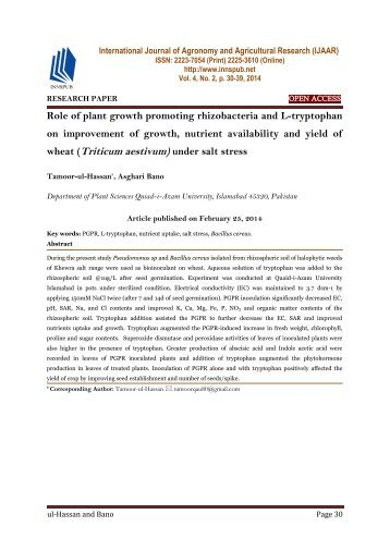 thesis on plant growth promoting rhizobacteria In addition, studies are needed to elucidate the signal transduction pathways that result from treatment of plants with plant growth-promoting rhizobacteria under stress conditions in the present review an emphasis has been given on plant-microbe interactions and their mitigation under abiotic and biotic stresses.