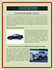 Ford Dealerships Austin