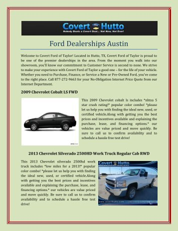 Round Rock Ford Dealership
