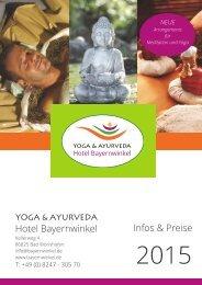 Yoga & Ayurveda Hotel Bayernwinkel - Infos & Preise 2015