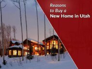 Park City Real Estate – Reasons to Buy a Home in Utah