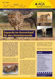 Geparde im Ausverkauf für den Heimtiermarkt